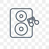 Loud Woofer Box vector icon isolated on transparent background, vector illustration
