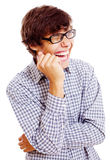 Loudly laughing guy Stock Photography