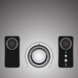 The loudness regulator. Metal button - the loudness regulator Royalty Free Stock Photography