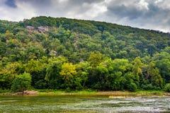 Loudoun-Höhen und der Shenandoah-Fluss, in Harpers Fähre, Wes lizenzfreie stockfotografie