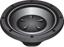 Loudspeaker. Three dimensional illustration of modern loud speaker, isolated on white background Royalty Free Stock Images