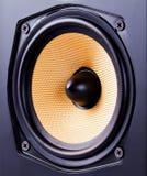 Loudspeaker. Close up capture of a loudspeaker stock photo