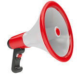 Loudspeaker. 3d Megaphone with red & black parts isolated on white background Royalty Free Stock Photo