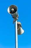 Loudspeaker. Two loudspeaker against blue sky Stock Images