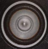 Loudspeaker. Closeup of a black and silver loudspeaker Stock Photos
