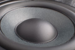 Loudspeaker. The part of black loudspeaker close up royalty free stock image