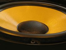 Loudspeaker. High tech bass loudspeaker close-up Royalty Free Stock Images