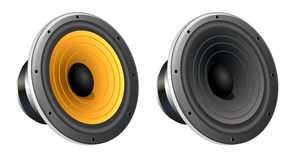 Loudspeaker. Music audio sound Stock Image