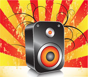 Loudspeaker. Illustration of loudspeaker with abstract background Royalty Free Stock Photo