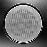 Loudspeaker. Closeup. black loud speaker - subwoofer Royalty Free Stock Photography