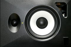 Loudspeaker. A generica home or studio audio speaker Royalty Free Stock Photo