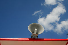 Loudspeaker. In the sky Stock Photo