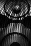 Loudspeaker, abstract loudspeaker in disco club. Loudspeaker, abstract loudspeaker close-up in disco club Royalty Free Stock Image