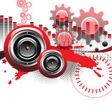 Loudspeaker art royalty free stock photos