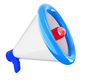 Loudspeaker as announcement icon Stock Photos