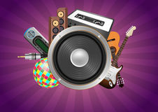 Loudspeaker audio device Stock Image