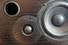 Loudspeaker or audio speaker at recording studio. Background for web site or mobile devices Royalty Free Stock Photos