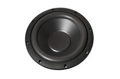 Loudspeaker without background. Loudspeaker woofer on white background Royalty Free Stock Photography