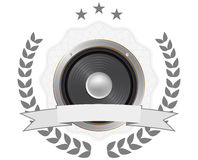 Loudspeaker badge Royalty Free Stock Photo
