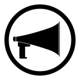 Loudspeaker black icon Royalty Free Stock Photos
