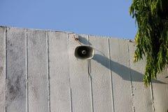 Loudspeaker. On blue sky background Stock Images