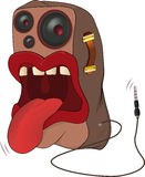 Loudspeaker a caricature Royalty Free Stock Photos
