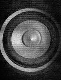 Loudspeaker close-up. Macro shoot stock photo