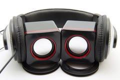 Loudspeaker and earphone Royalty Free Stock Photo