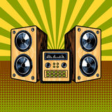 Loudspeaker enclosure comic book style vector. Loudspeaker enclosure comic book pop art retro style vector illustratoin Stock Image