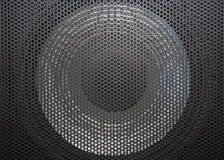 Loudspeaker grid with round openings Stock Photography