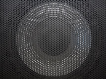 Loudspeaker grid with round openings Stock Images
