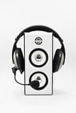 Loudspeaker and headphone Stock Photos
