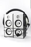 Loudspeaker and headphone Stock Images