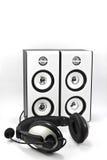 Loudspeaker and headphone Royalty Free Stock Images