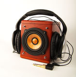 Loudspeaker and headset Stock Photo