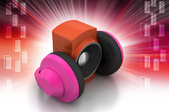 Loudspeaker and headset Stock Photography