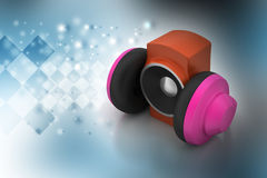 Loudspeaker and headset Stock Photos
