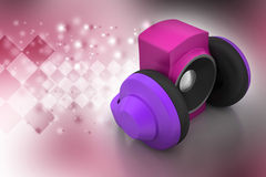 Loudspeaker and headset Royalty Free Stock Images