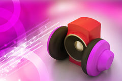 Loudspeaker and headset Royalty Free Stock Photos