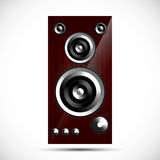 Loudspeaker Hi-Fi acoustics icon wooden case illustration. Loudspeaker Hi-Fi acoustics icon wooden case  illustration Royalty Free Stock Photo