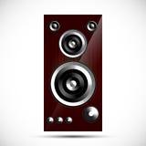 Loudspeaker Hi-Fi acoustics icon wooden case illustration Royalty Free Stock Photo