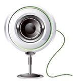 Loudspeaker icon. Vector audio loudspeaker icon in a plastic casing Stock Photography