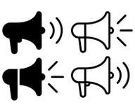 Free Loudspeaker Icon. Set Of Megaphone Symbol. Vector Illustration Royalty Free Stock Photos - 209179408