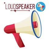 Loudspeaker Icon Vector. Megaphone, Bullhorn Symbol. Promotion, Advertising Banner Design Element. Isolated Flat Cartoon. Loudspeaker Icon Vector. Megaphone royalty free illustration