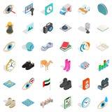 Loudspeaker icons set, isometric style. Loudspeaker icons set. Isometric style of 36 loudspeaker vector icons for web isolated on white background Stock Images
