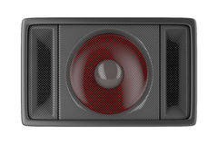 Loudspeaker isolated on white. Front view of loudspeaker, isolated on white background vector illustration