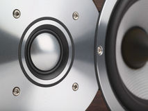 Loudspeaker macro. Shallow DOF, focus on tweeter stock images