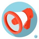 Loudspeaker megaphone icon Stock Photography