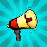 Loudspeaker or megaphone in retro pop art style Stock Photos