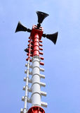 Loudspeaker in rural Thailand. Stock Photo